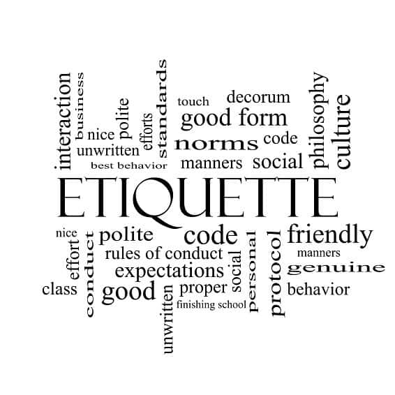 Etiquette Classes and Basic Rules