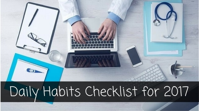 Daily Habits Checklist for 2017