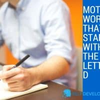 Motivating Words That Start With the Letter D