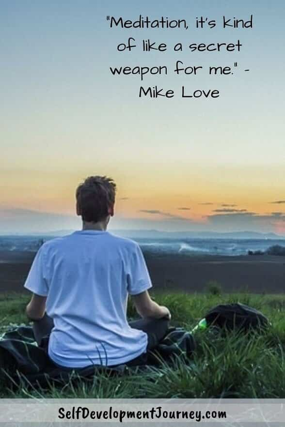 Funny meditation quotes - Meditation, it's kind of like a secret weapon for me. - Mike Love
