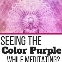 Seeing Purple During Meditation