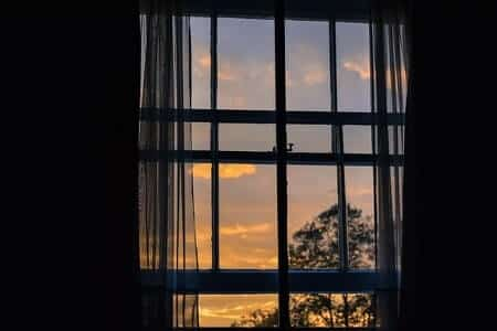 Open a window to stay cool if you're too hot